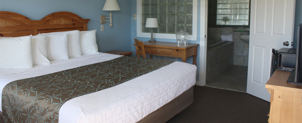 Surfside Motel room with a king bed